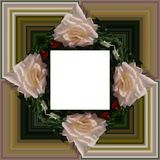 3D render flower background frame. 3D render illustration of  background frame with embossed real native colorful flowers Royalty Free Stock Photos