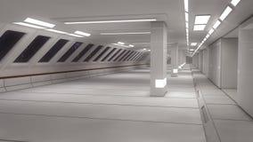 3d render. Futuristic spaceship interior Stock Image