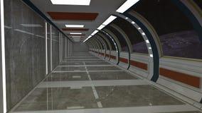3d render. Futuristic spaceship interior Stock Images