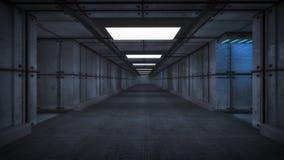 3d render. Futuristic spaceship interior Royalty Free Stock Photos
