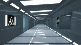 3d render. Futuristic spaceship interior Royalty Free Stock Photo