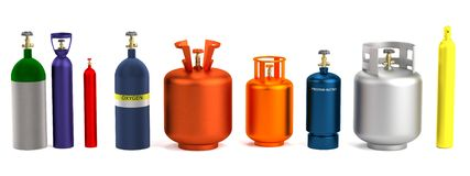 3d render of gas cans Stock Image