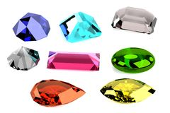 3d render of gems Stock Photos