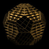 3d render of geometric platonic object. Isolated Futuristic object royalty free illustration