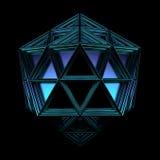3d render of geometric platonic object. Isolated Futuristic object stock illustration