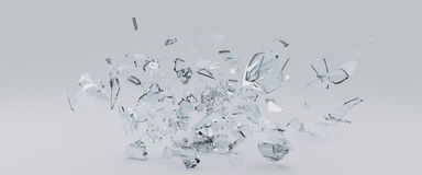 Flying Shards of glass Royalty Free Stock Photography