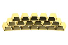 3d render of gold bars Stock Photography