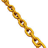 3d render of gold chain links Royalty Free Stock Photo