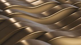 3d render Gold lines fields vj background. 3d render Gold lines fields vj 4k Royalty Free Stock Images