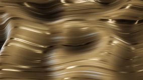 3d render Golden glamour caramel abstract background. 4k Royalty Free Stock Photos