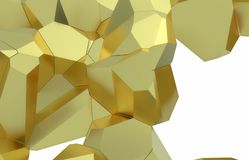 3d render, golden modern shattered wall texture, random clusters digital illustration, abstract geometric background. Wealth and Prosperity reach concept stock illustration