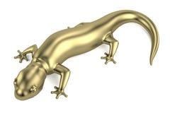 3d render of golden salamander Royalty Free Stock Photo