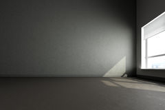 3d render  gray room Royalty Free Stock Photography