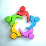 3D People Logo Royalty Free Stock Photography