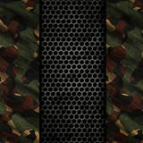3D grunge background with metal and camouflage textures. 3D render of a grunge background with metal and camouflage textures Royalty Free Stock Photo