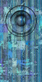 3d render grunge blue old speaker sound system Royalty Free Stock Photography