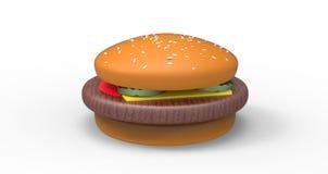 3d Hamburger Stock Photography