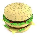 3d render of hamburger Stock Photo