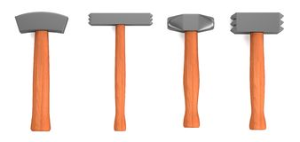 3d render of hammers Stock Image