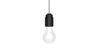 Hanging light bulb Stock Photography