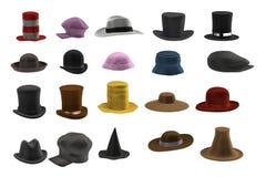 3d render of hat set Royalty Free Stock Images