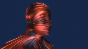 Head Human shattered portrait stock illustration