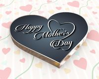 3d heart design calligraphic happy mothers day stock photography