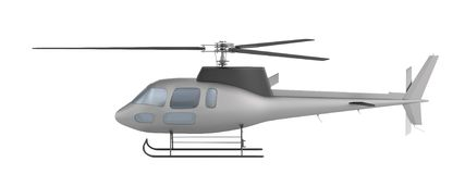 3d render of helicopter Royalty Free Stock Image