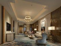 3d render of hotel lobby. 3d render of hotel entrance lobby vector illustration