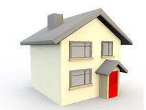 3d render of a house as a simple symbol or icon Stock Photography