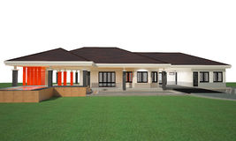 3D render of house Royalty Free Stock Image