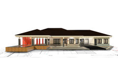 3D render of house Royalty Free Stock Images