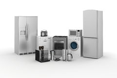 3d render of household appliances Stock Photo