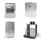 3d render of household appliances Royalty Free Stock Image
