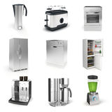 3d render of household appliances Stock Images