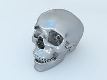 3D render of humanoid metal scull vector illustration