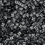 Black dice background Royalty Free Stock Image