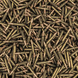 Rifle bullets background. 3D render of hundreds of rifle bullets Royalty Free Stock Photography