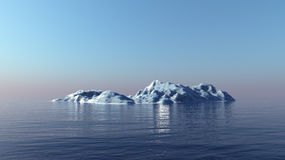 3D render of iceberg. Royalty Free Stock Image