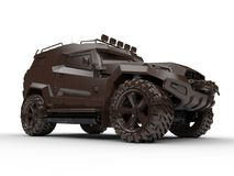 All terrain massive vehicle. 3D render illustration of an all terrain vehicle. The composition is isolated on a white background with shadows Stock Image