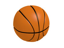 3d render illustration of Basketball. With white background Stock Photography