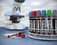 3d render illustration.blood tubes Royalty Free Stock Photo