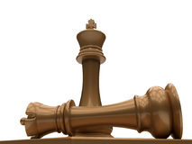 Chess queen last standing Royalty Free Stock Image