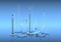 3D render,illustration.Glassware in laboratory Stock Images