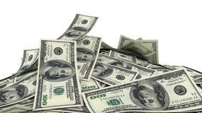 3D render, illustration,Heap of Dollar Bills Stock Photo