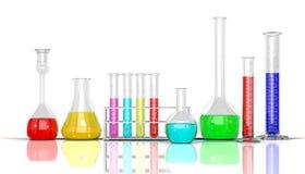 3D render illustration. Laboratory  glassware Royalty Free Stock Images