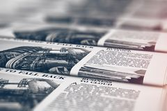 Printing newspapers in typography royalty free stock photo