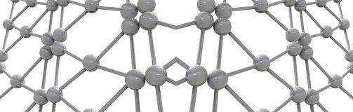 3d render illustration of molecular mesh structure Stock Images