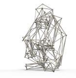 3d render illustration ofmonkey  structure Stock Photo