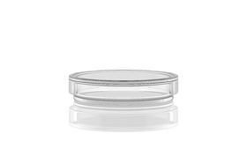 3D render, illustration.Petri dish with reflection,. Laboratory glass on white background Royalty Free Stock Photography
